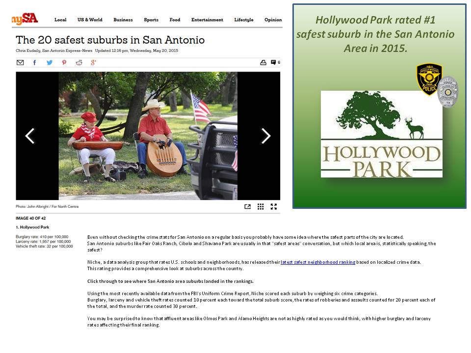 Police > - Town of Hollywood Park-The Official Website